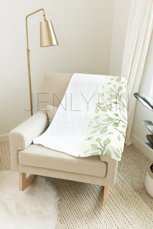 Minky Blanket on Nursery Rocker #NN21