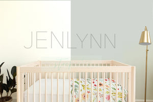 Wallpaper + Crib Sheet Mockup #NN27 PSD