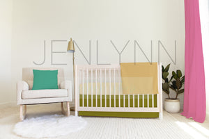 Nursery Set Mockup #NN39 | Sheet, Skirt, Pillow, Blanket, and Curtains