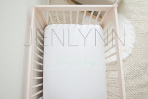 Neutral Nursery Crib Sheet Mockup #34