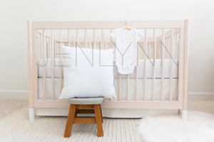 Onesie® and Pillow, Crib Sheet Set Mockup #NN40