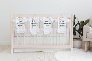 Baby Bodysuit Mockup on Crib #NN48 JPG