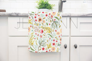 One White Kitchen Towel Mockup #4 PSD