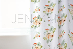 White Fabric Curtain Mockup #2