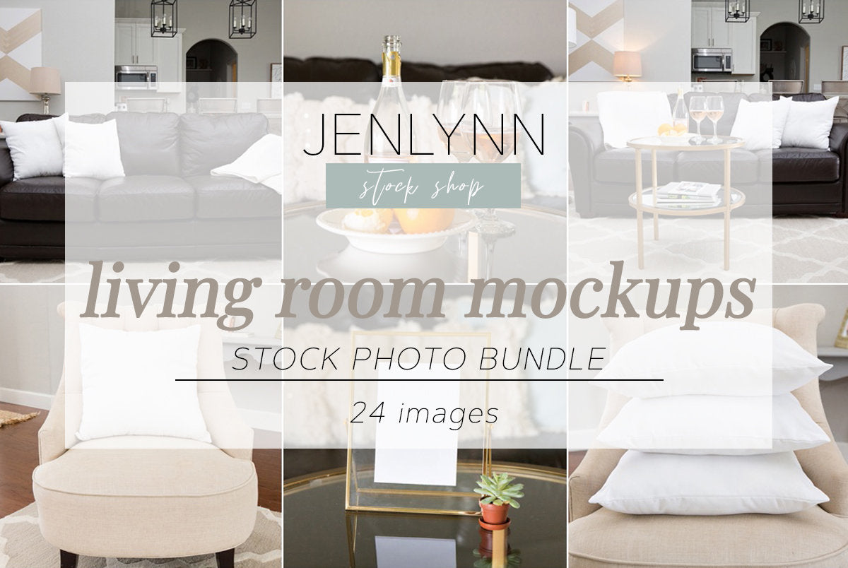 Living Room Stock Photo Bundle JPG