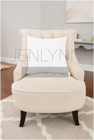 White Pillow Living Room Mockup #8