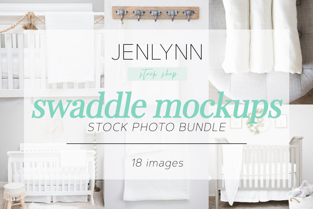 Swaddle Blanket Mockup Bundle JPG