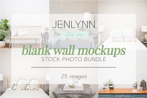 Blank Wall Mockups Bundle JPG