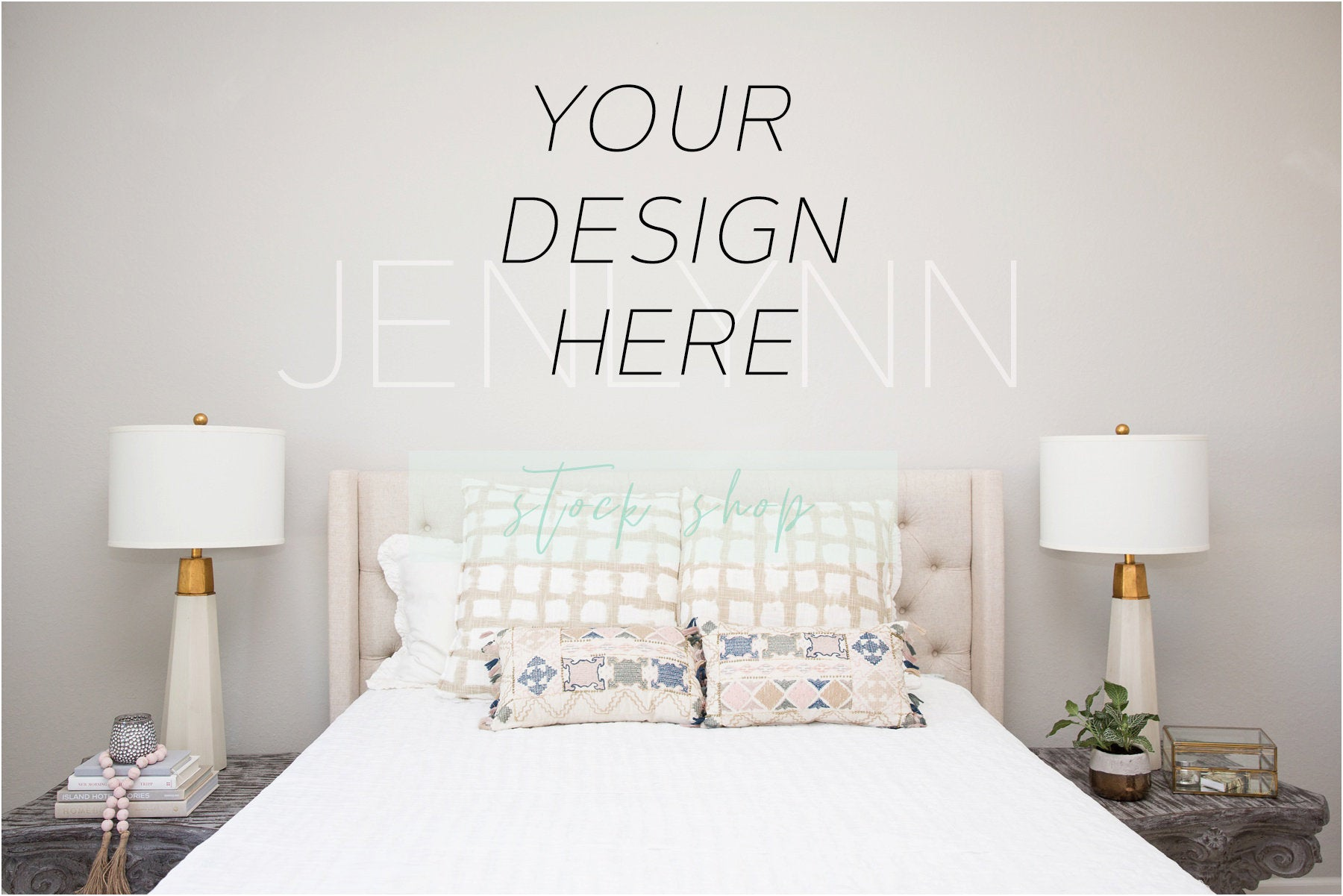 Bedroom Wall Mockup #4