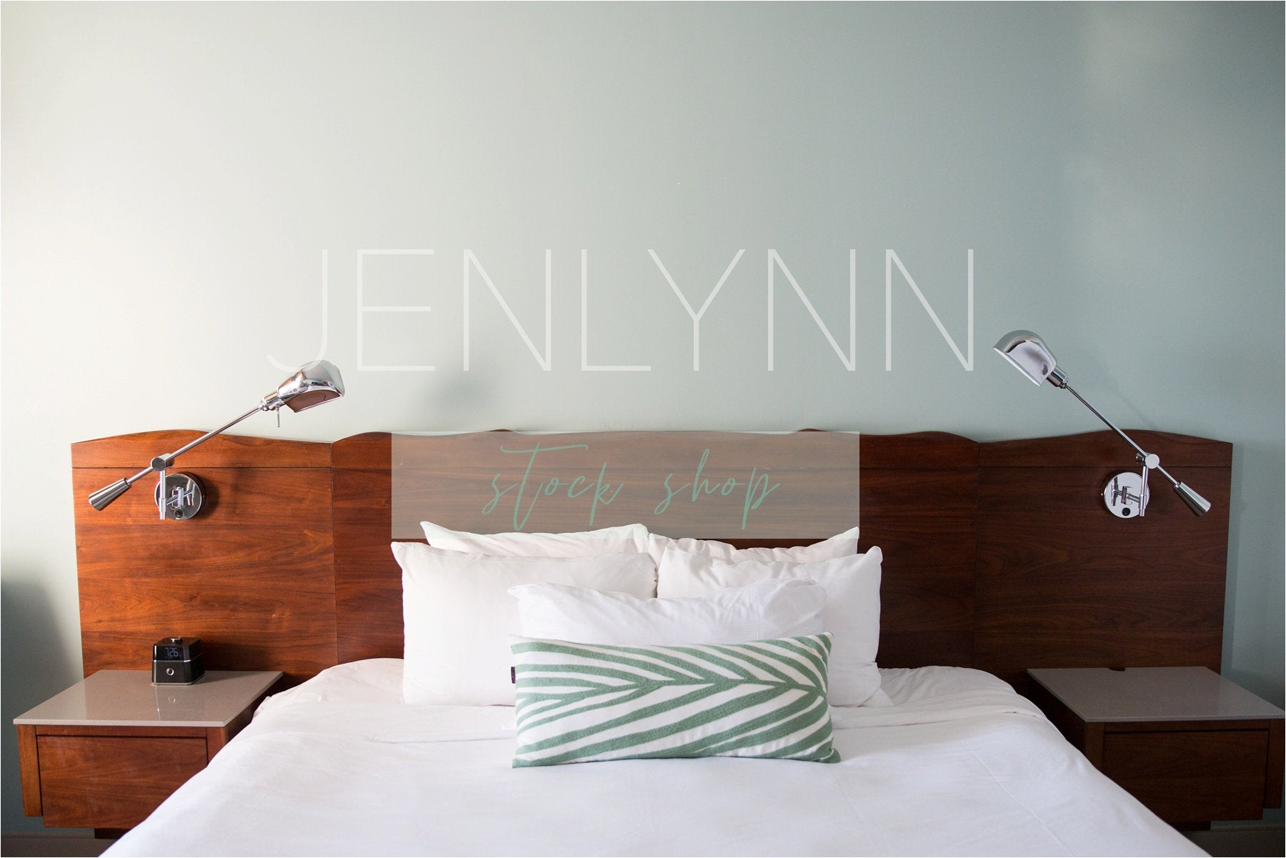Modern Bedroom Blank Wall #2