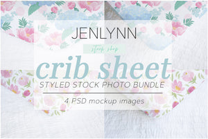 Crib Sheet Corner Mockup Bundle PSD
