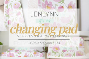 Changing Pad Cover Mockup Bundle PSD