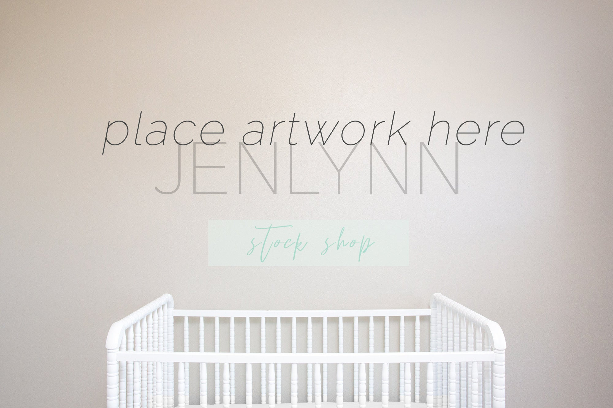 Nursery Wall Mockup, Crib Mockup, Styled Stock Photo, Digital Mockup, blank wall mockup, stock photography, interior mockup, kids room mock