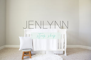 Minky and Pillow Crib Set Mockup #6
