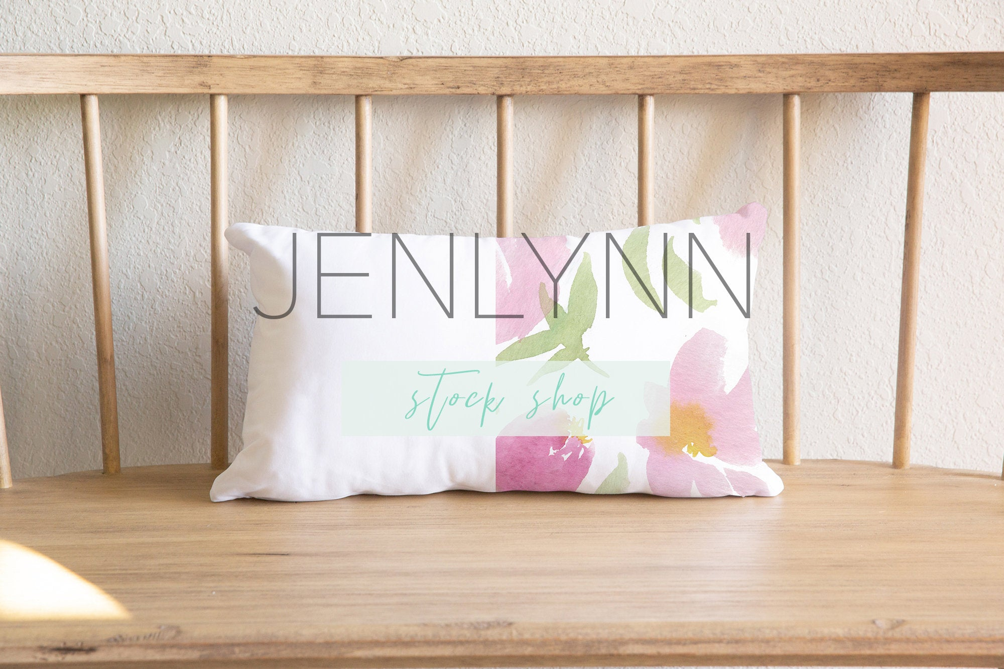 12 x 18 Pillow Mockup on Bench #2