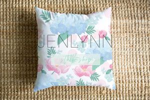 Square Pillow Mockup on Jute #1