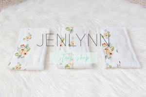 Burp Cloth Set Mockup #7