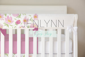 Teething Crib Rail Cover Mockup, Crib Sheet Mockup, Crib Skirt Mockup, Nursery Mockup, Nursery Bedding Mockup, Crib Bedding Mockup