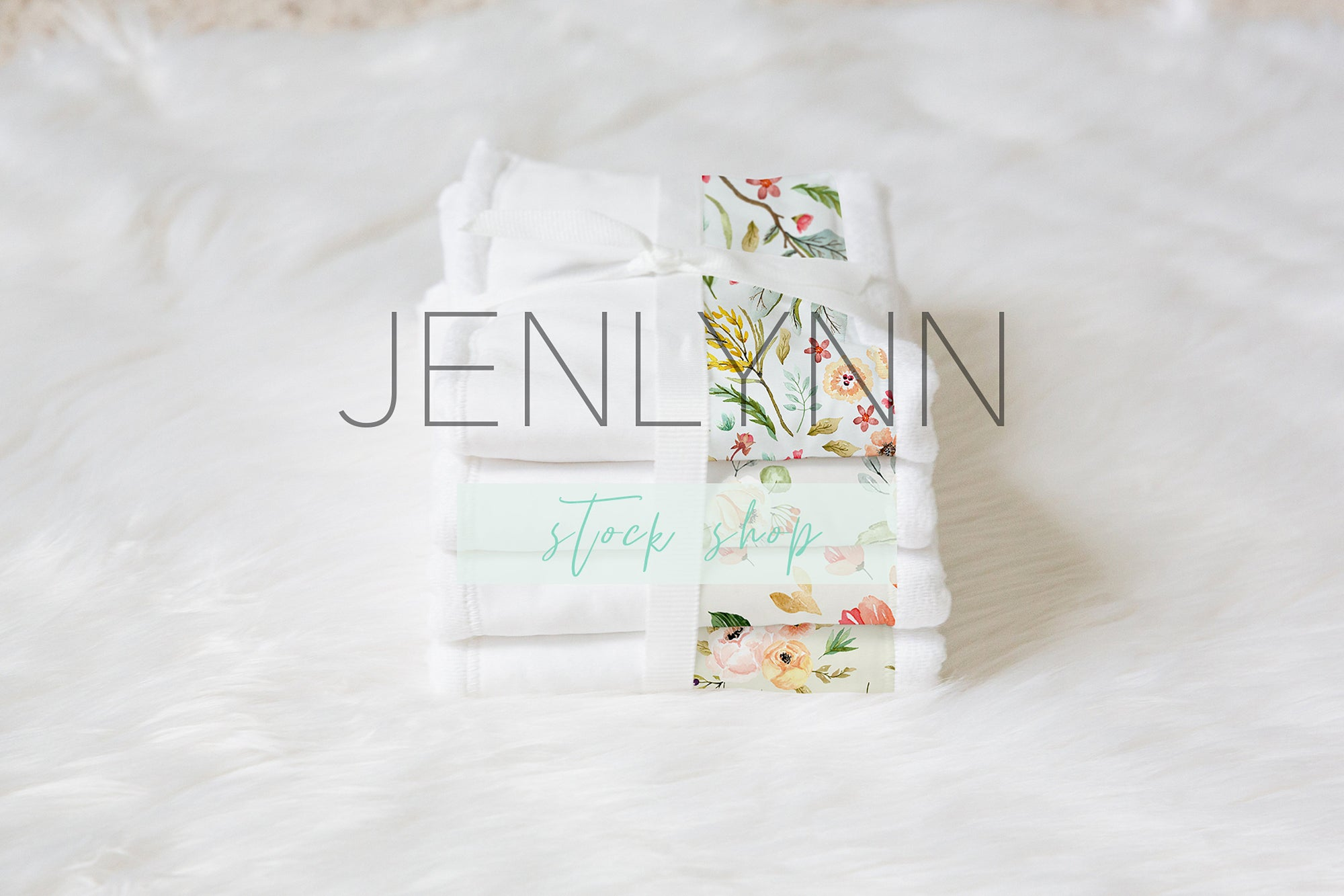 Burp Cloth Set Mockup #24