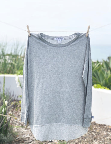 Don't say it - Long Sleeve Tee: Gray