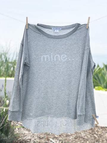 Say it - Long Sleeve Tee: Gray
