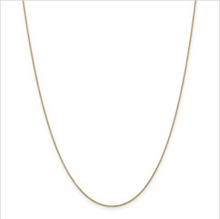 Load image into Gallery viewer, 14kt Yellow Gold Cable Chain .9mm