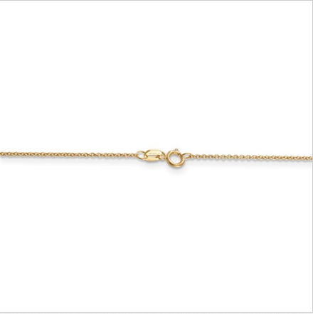 10kt Yellow Gold Cable Chain .1 mm