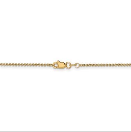 14kt Yellow Gold Cable Chain 1.5 mm