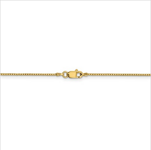 14kt Yellow Gold Box Chain 0.9 mm