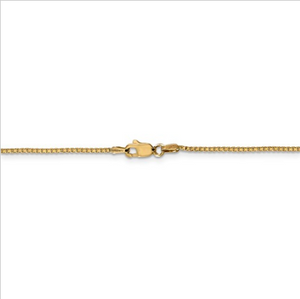 14kt Yellow Gold Box Chain 1.1 mm