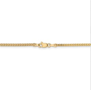 14kt Yellow Gold Franco Chain 1.5 mm