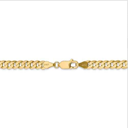 14kt Yellow Gold Cuban Link Chain 4.75 mm