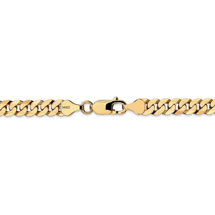 14kt Yellow Gold Cuban Link Chain 6.25 mm