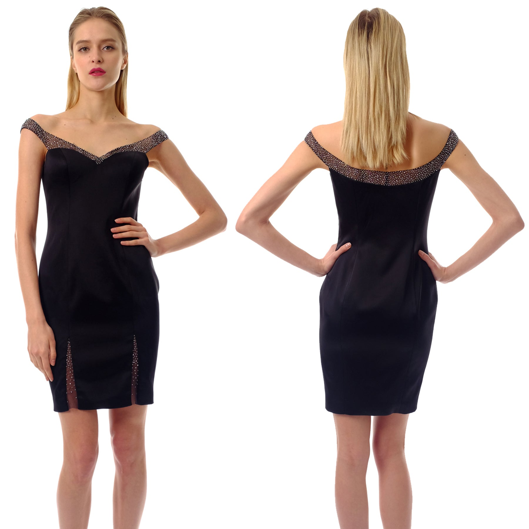 e74bf0c2b1 A little black dress is what every woman should have in their wardrobe.  With off-shoulder design