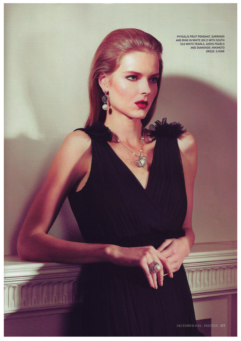 Claudia Gown featured in Prestige, December 2012