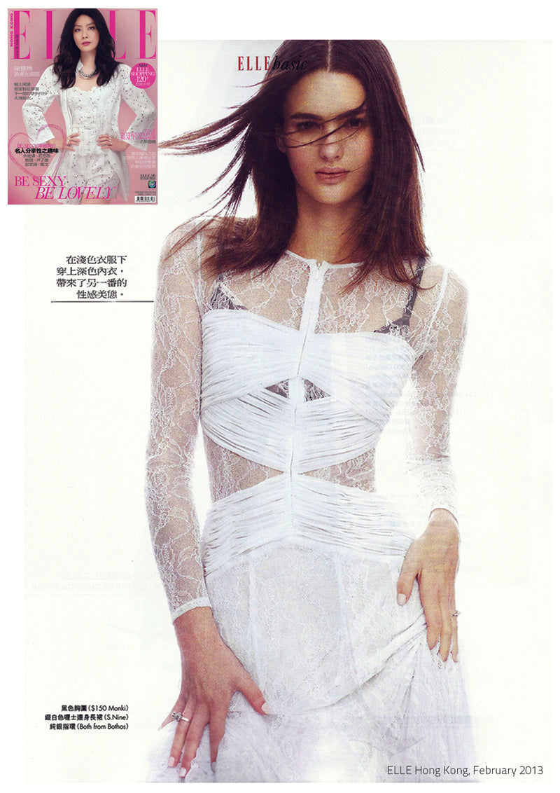 Lydia Dress featured in Elle magazine, February 2013
