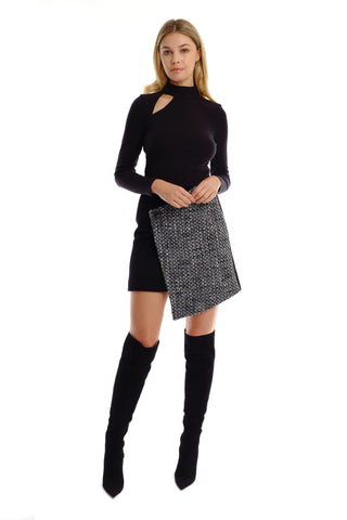 Aika Wool Tweed Skirt