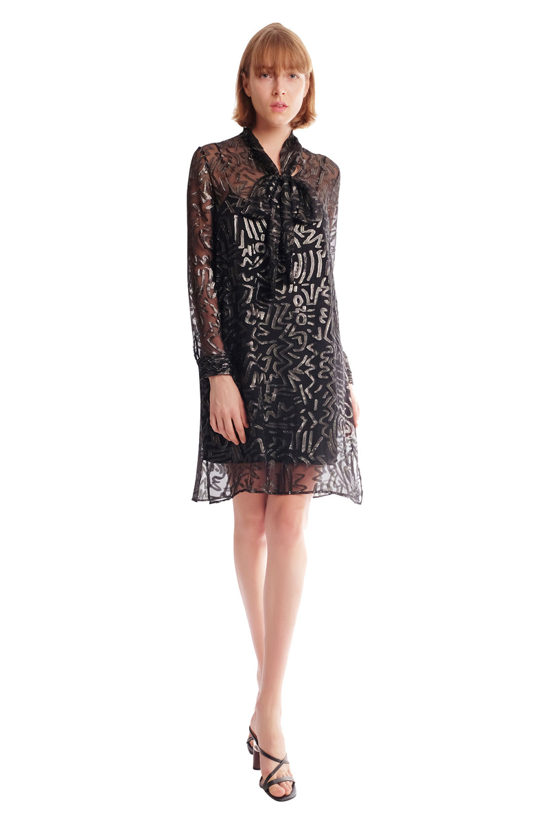 Royce II Silk Chiffon Shirt Dress
