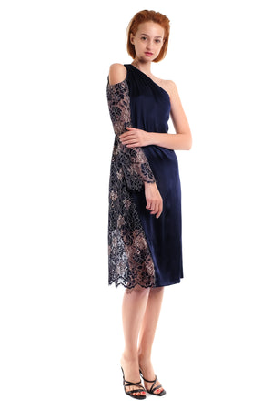 Aerith Silk Lace One-Shoulder Dress
