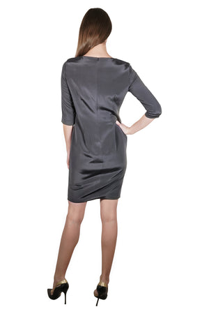 Kassandra Silk Crepe Sheath Dress