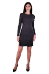 Leona Buttoned Rib Knit Dress