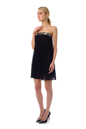 Oliva Chiffon Pleated Dress