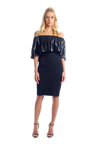 Posha Lurex Off Shoulder Dress