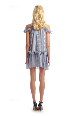 Cindy Halter Ruffle Dress