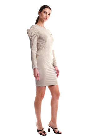 Kaylene Drape Sleeves Dress