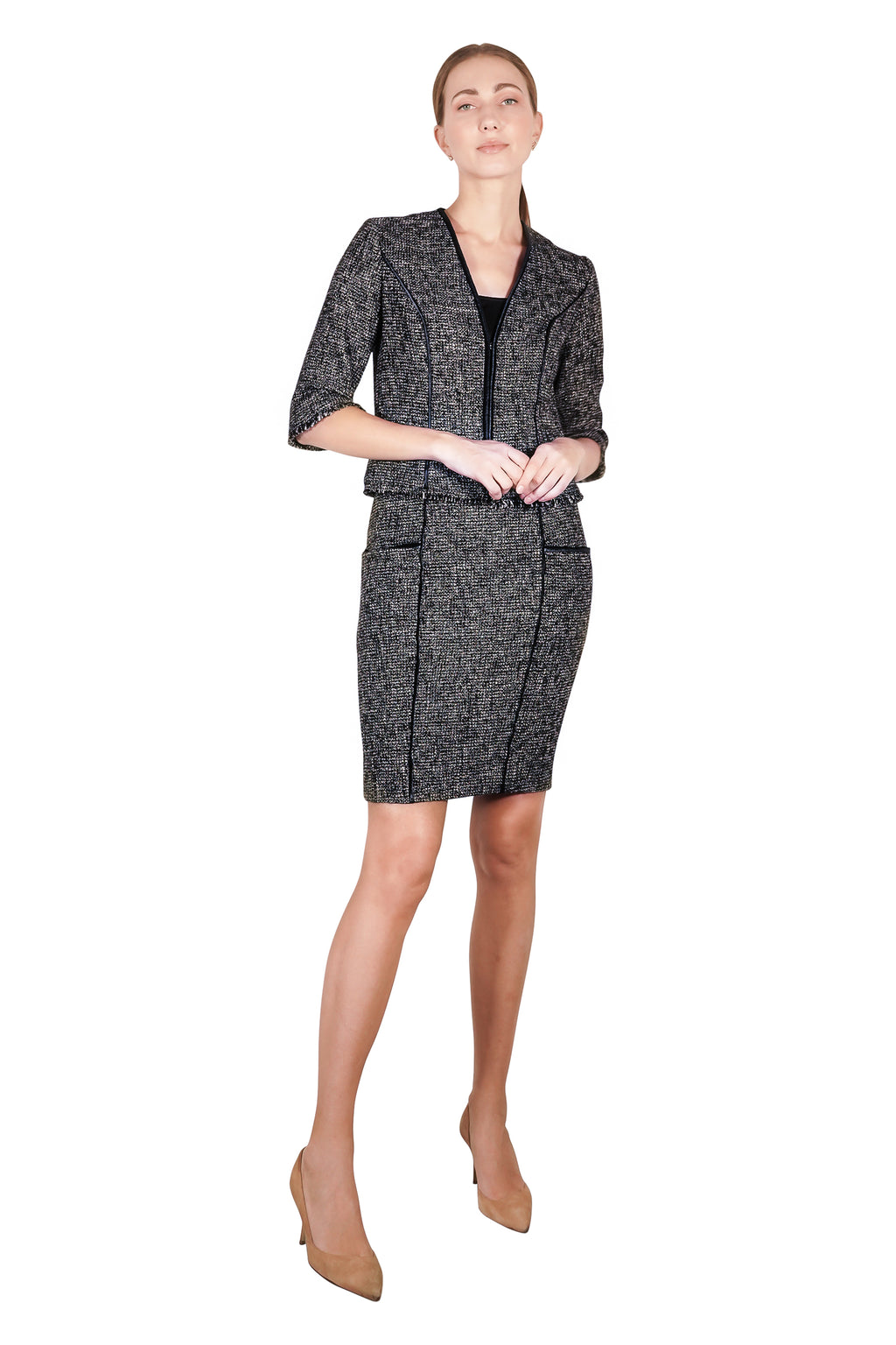 Kannas Couture Lined Tweed Jacket