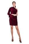 Dasha Crinkled Velvet Dress