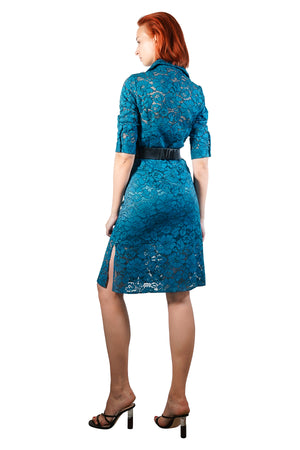 Somia Lace Shirt Dress