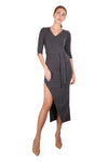 Trista Mid-Sleeves Maxi Dress