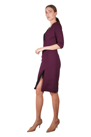 Alexia 2-Toned Dress (Mid-Sleeves)